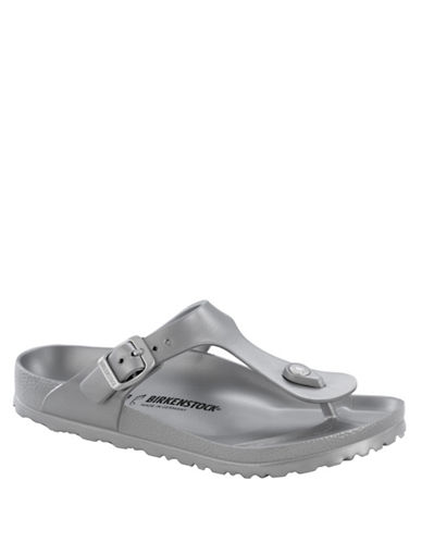 Birkenstock Gizeh Thong Sandals-METALLIC SILVER-EUR 36/US 5
