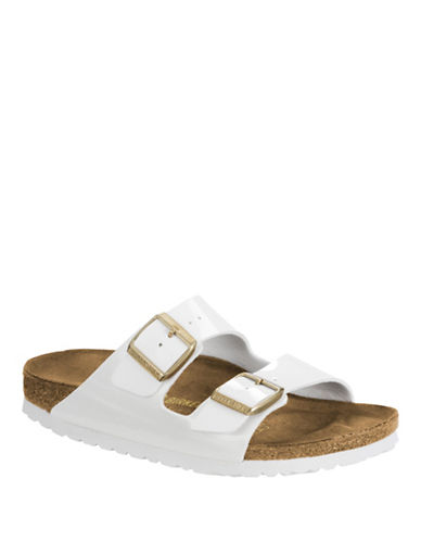 Birkenstock Womens Classic Two Strap Sandals-WHITE PATENT-EUR 36/US 5