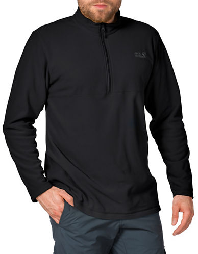 Jack Wolfskin Gecko Fleece Pullover-BLACK-Large