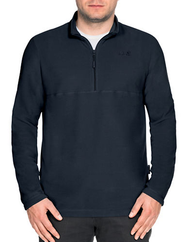 Jack Wolfskin Gecko Zippered Pullover-BLUE-X-Large