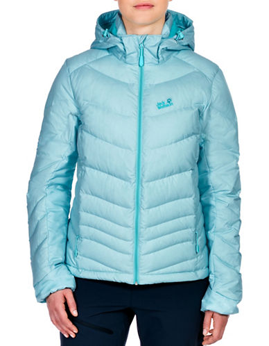 Jack Wolfskin Selenium Down Hooded Jacket-BLUE-Large