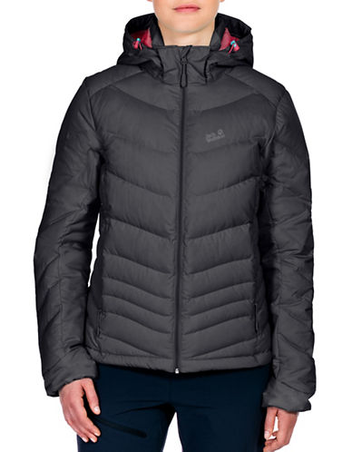 Jack Wolfskin Selenium Down Hooded Jacket-NATURAL-X-Small