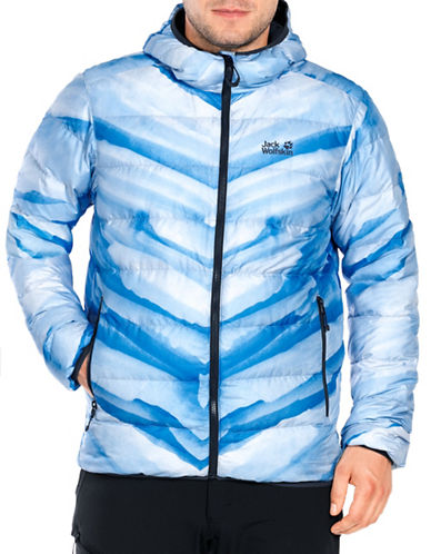 Jack Wolfskin Helium Ice Men Quilted Jacket-BLUE-Large