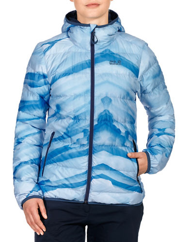 Jack Wolfskin Helium Ice Hooded Down Jacket-BLUE-X-Small