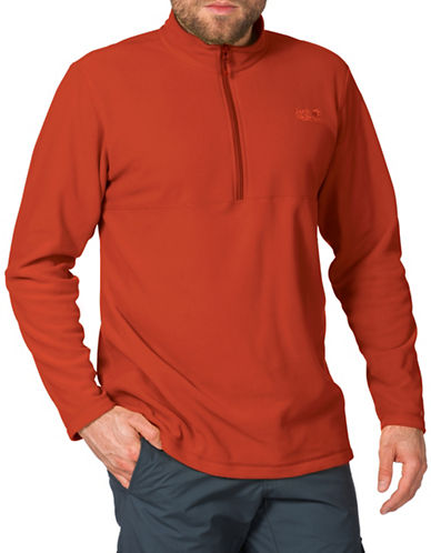 Jack Wolfskin Gecko Fleece Pullover-ORANGE-Small