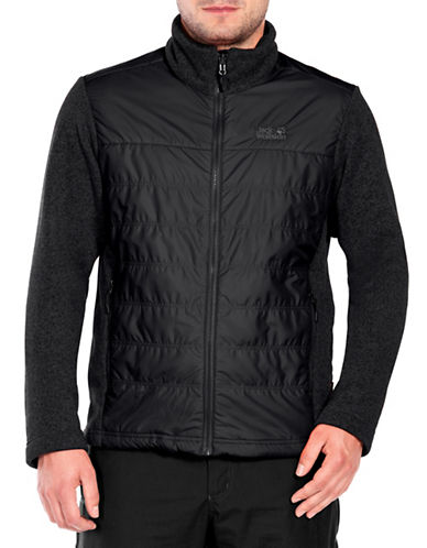 Jack Wolfskin Caribou Crossing Jacket-BLACK-X-Large