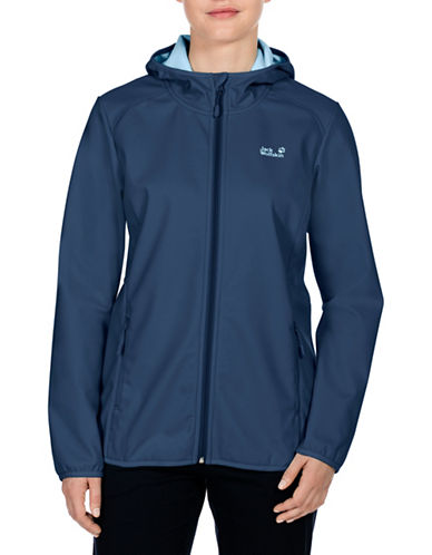 Jack Wolfskin Northern Point Softshell Jacket-GREY-X-Small