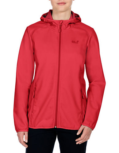 Jack Wolfskin Northern Point Softshell Jacket-RED-Small