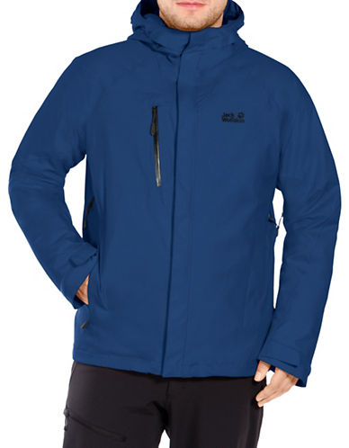 Jack Wolfskin Troposphere Hooded Jacket-DEEP BLUE-X-Large