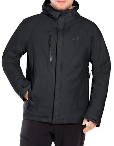 Jack Wolfskin Troposphere Hooded Jacket-BLACK-X-Large