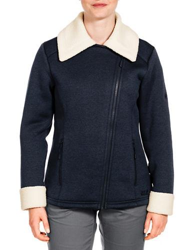 Jack Wolfskin Terra Nova Fleece Coat-BLUE-X-Large