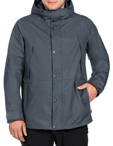 Jack Wolfskin 3-in-1 Fleece-Lined Jacket-DARK IRON-X-Large