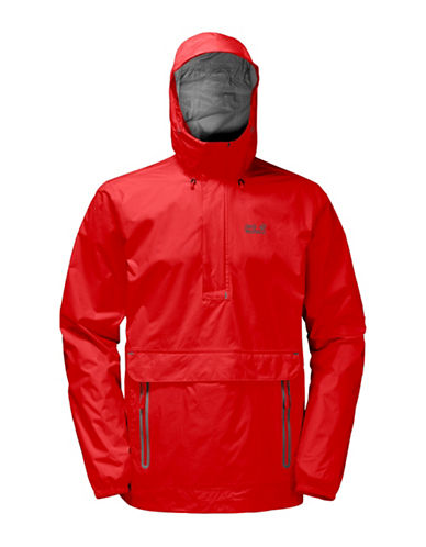 Jack Wolfskin Cloudburst Softshell Smock Jacket-FIERY RED-XX-Large