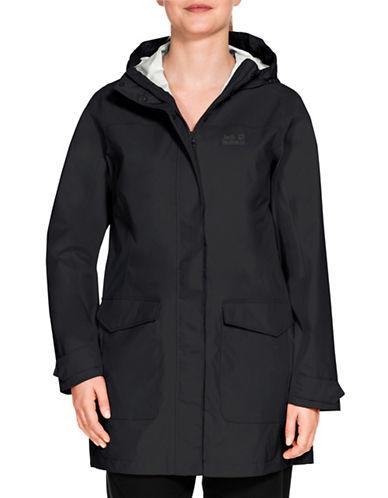 Jack Wolfskin Crosstown Raincoat-BLACK-Small