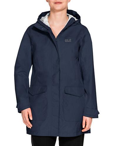 Jack Wolfskin Crosstown Raincoat-MIDNIGHT BLUE-X-Small
