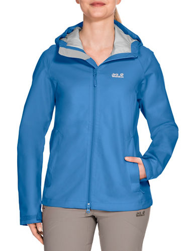Jack Wolfskin Arroyo Waterproof Jacket-WAVE BLUE-Medium