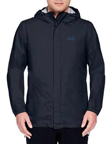 Jack Wolfskin Cloudburst Hooded Jacket-BLUE-Medium