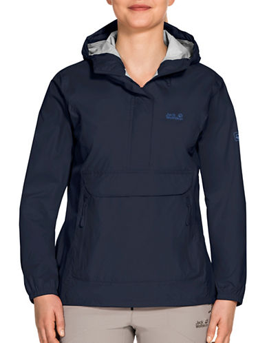 Jack Wolfskin Cloudburst Smock Jacket-MIDNIGHT-Medium