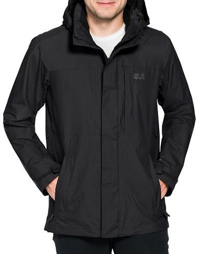 Jack Wolfskin Brooks Range Flex Softshell Jacket-BLACK-Large