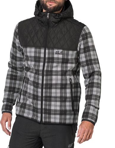 Jack Wolfskin Mackenzie Road Hooded Jacket-BLACK-XX-Large