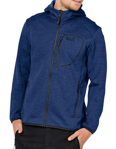 Jack Wolfskin Skyland Hooded Jacket-ROYAL BLUE-Small