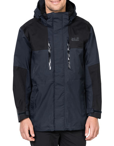 Jack Wolfskin Jasper Flex Weatherproof Jacket-BLUE-Small