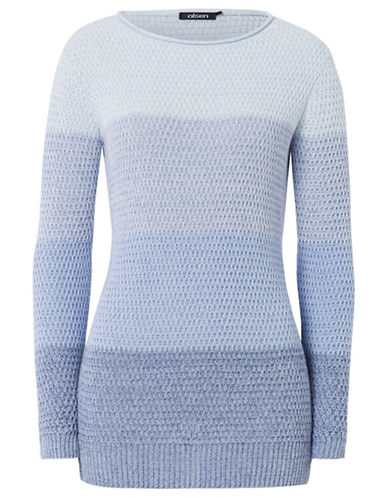 Olsen Ombre Knit Sweater-BLUE-EUR 44/US 14