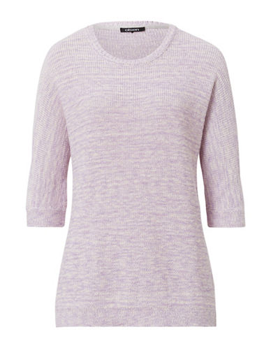 Olsen Three Quarter Knit Sweater-PURPLE-EUR 38/US 8