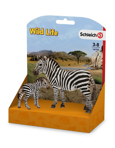 Schleich Two-Piece Zebra and Foal Set 89637110
