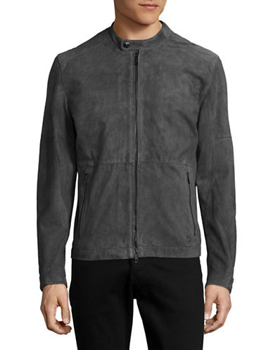 Strellson Beacon Suede Moto Jacket-GREY-42