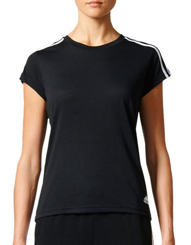 Adidas Essentials Slim-Fit 3-Stripes Tee-BLACK-X-Large 89169256_BLACK_X-Large