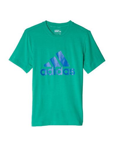 Adidas Prime Logo Tee-GREEN-X-Large