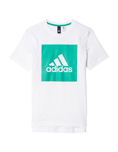Adidas Essentials Logo Tee-WHITE-Large 89158241_WHITE_Large