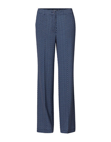 Olsen Anna Printed Pants-BLUE-EUR 38/US 8
