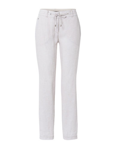Olsen Lisa Linen Trousers-SAND-EUR 42/US 12