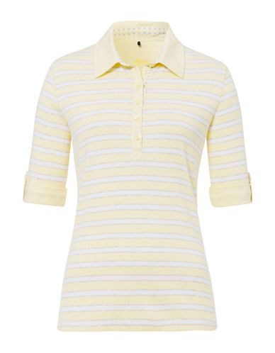 Olsen Striped Polo-NATURAL-EUR 38/US 8