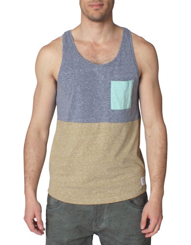 Tom Tailor Melange Cut and Sew Tank Top-DARK BLUE-X-Large 88449193_DARK BLUE_X-Large