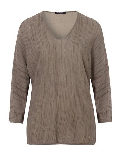 Olsen Dolman Sparkle Sweater-KHAKI-EUR 38/US 8