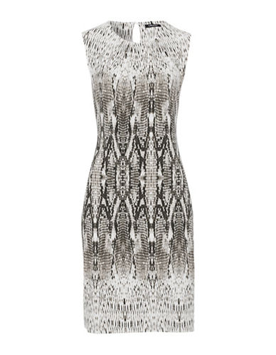Olsen Snake Print Dress-MULTI-EUR 36/US 6