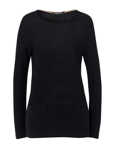 Olsen Double Pocket Tunic-BLACK-EUR 42/US 12