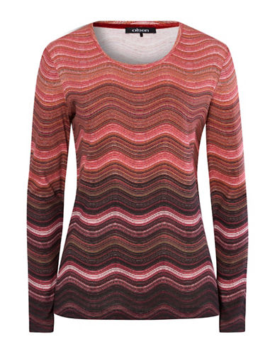 Olsen Wavy Stripe Tee-MULTI-EUR 44/US 14