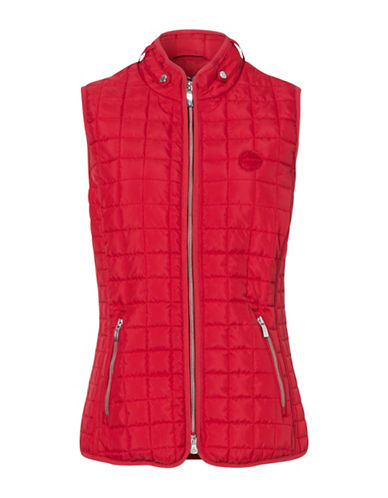 Olsen Quilted Sleeveless Vest-CRIMSON-EUR 40/US 10