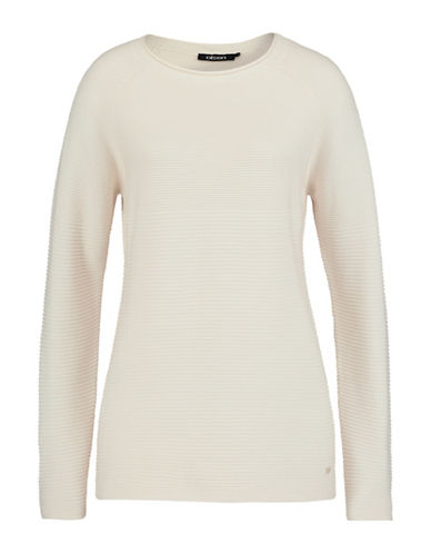 Olsen Multi-Textured Sweater-WHITE-EUR 42/US 12