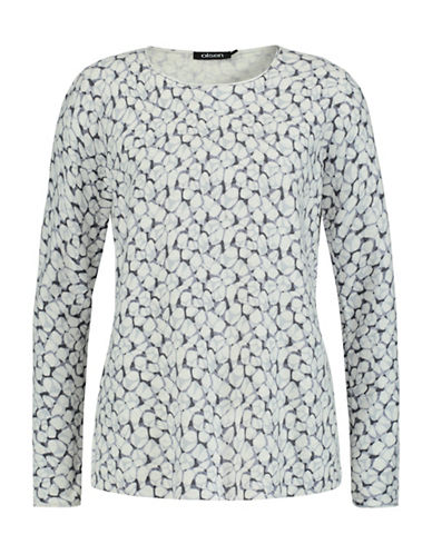 Olsen Pebble Print Sweater-WHITE-EUR 38/US 8