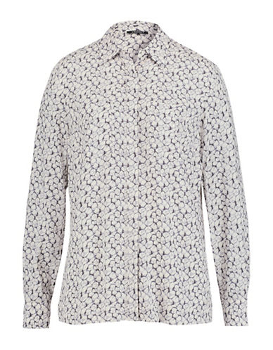 Olsen Pebble Print Blouse-WHITE-EUR 34/US 4