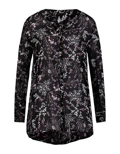 Olsen Floral Print Blouse-BLACK-EUR 38/US 8