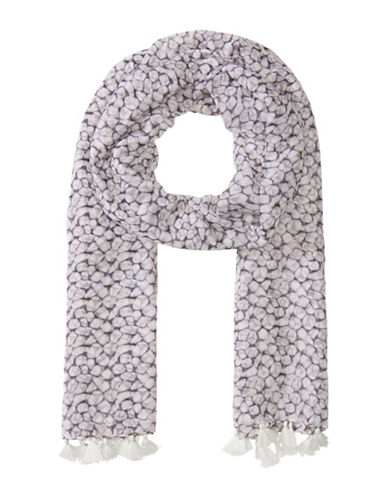 Olsen Pebble Print Scarf-WHITE-One Size