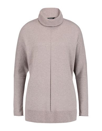 Olsen T-Neck Dolman Sleeve Sweater-BEIGE-EUR 44/US 14