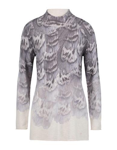 Olsen Mockneck Long Sleeve Tunic-GREY-EUR 40/US 10