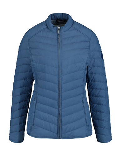 Olsen Quilted Zip Jacket-DENIM-EUR 40/US 10